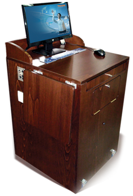 TecPodium W made in the USA wood all in one audio visual solution for classroom and lecture halls